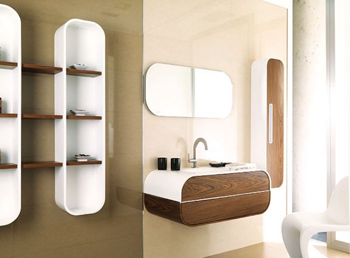 Tag re salle de bain un bain d 39 id e pour faire le bon - Etagere en bois salle de bain ...