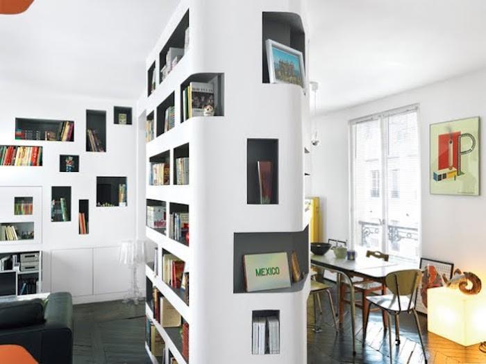 colonne-de-salon-separation-cube-integre-bibliotheque-incorpore-rangements-design