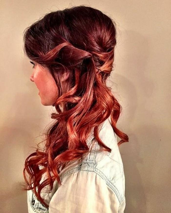 coloration acajou cheveux torsades et boucles jolie coiffure - Coloration Acajou