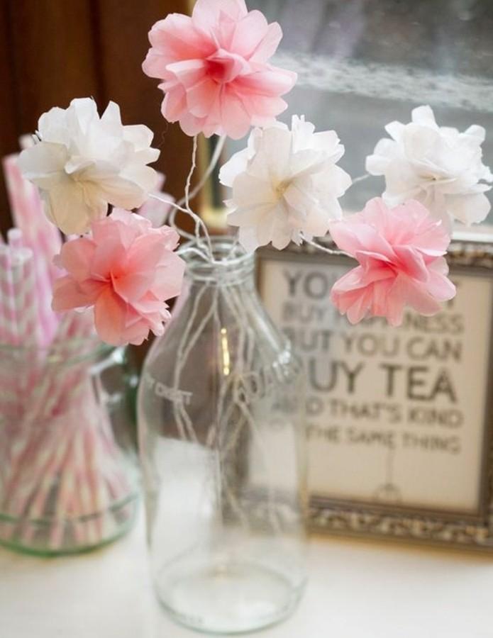 Deco Fleur Papier Fabriquer Une Fleur En Papier De Soie Ides Diy