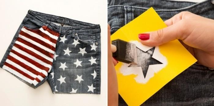 couper-un-jean-en-short-comment-decorer-en-style-americain-facilement-modele-detoile-en-papier-peinture-blanche