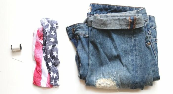 couper-un-jean-en-short-drapeau-americain-facile-a-appliquer