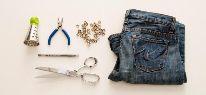 couper-un-jean-en-short-materiaux-necessaires-pour-decorer-les-jeans-en-studs
