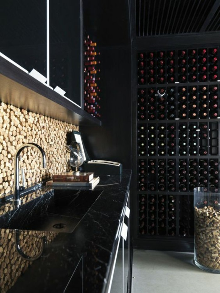 cuisine-moderne-interieur-decor-de-bouchons-en-liege