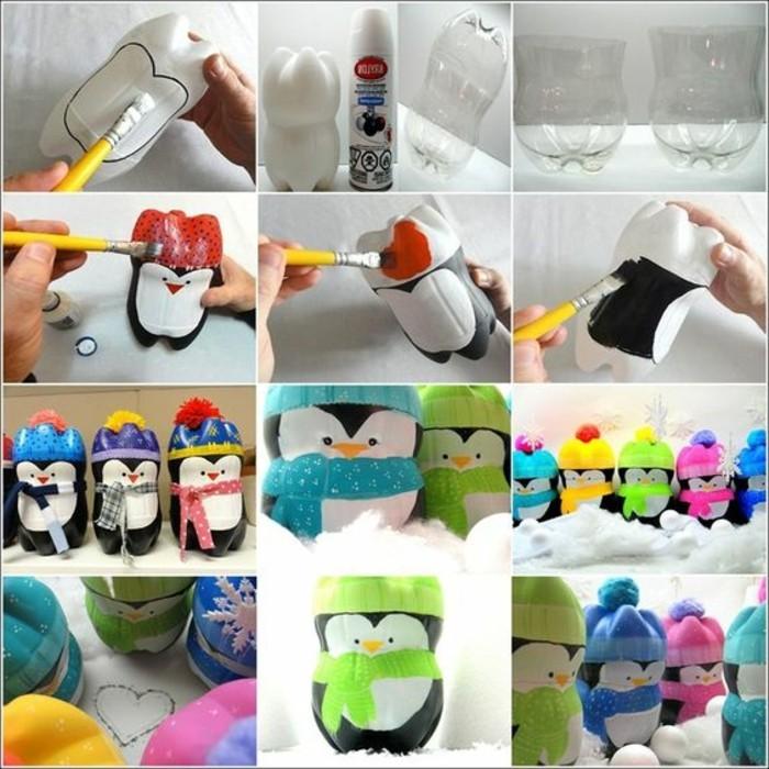 decoration-de-noel-a-faire-soi-meme-bouteille-plastique-transformee-en-penguin-mignon