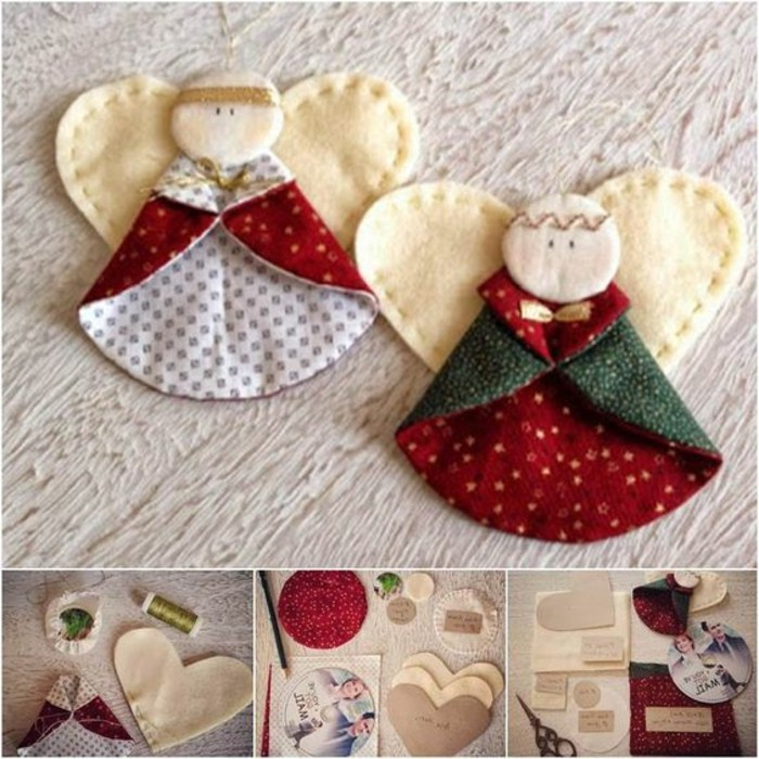 D corations de no l faire soi m me 60 photos d 39 id es diy - Decoration de noel a fabriquer en tissu ...