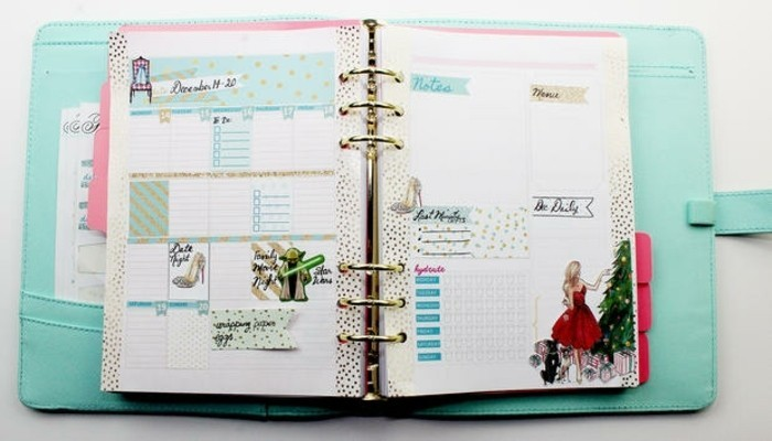 Favori Comment organiser et customiser son agenda - 62 idées DIY AE51