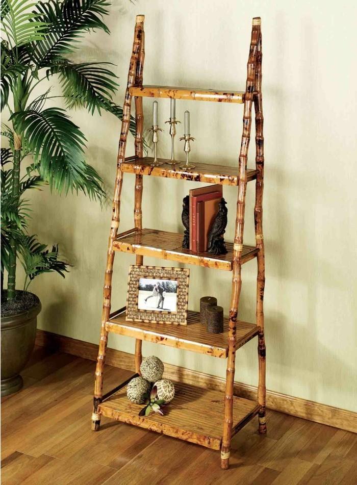 deco-bambou-etagere-pour-le-salon-cadre-photo-livre-bougies-plante