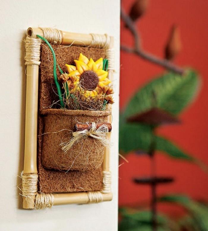 deco-bambou-cadre-accessoire-murale-herbier-fleur-de-soleil-artificielle