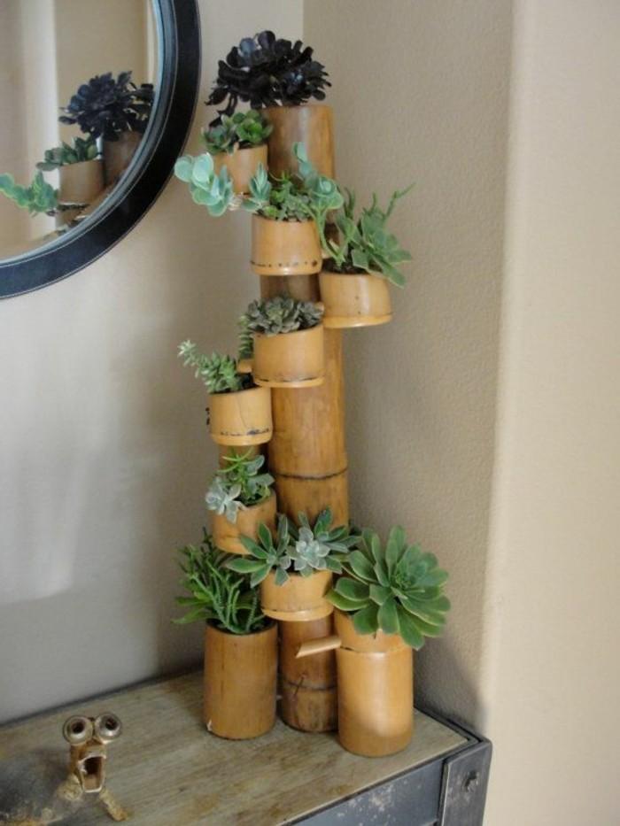 deco-bambou-mini-etagere-de-fleurs-miroir-deco-couloir