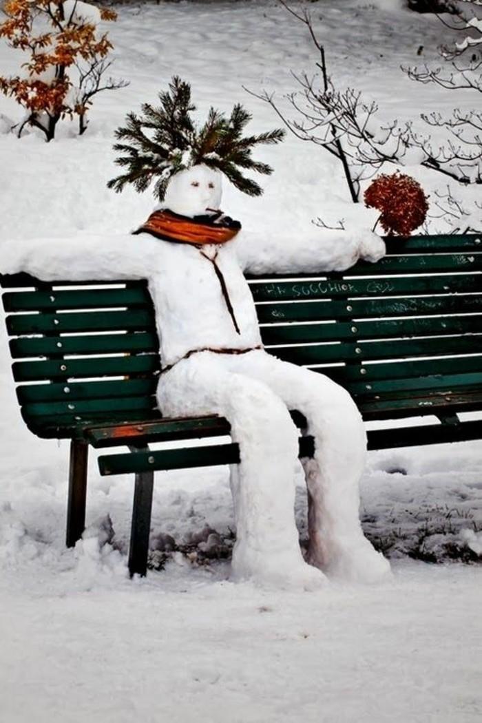 deco-noel-bonhomme-de-neige-comment-faire-un-bonhomme-banc