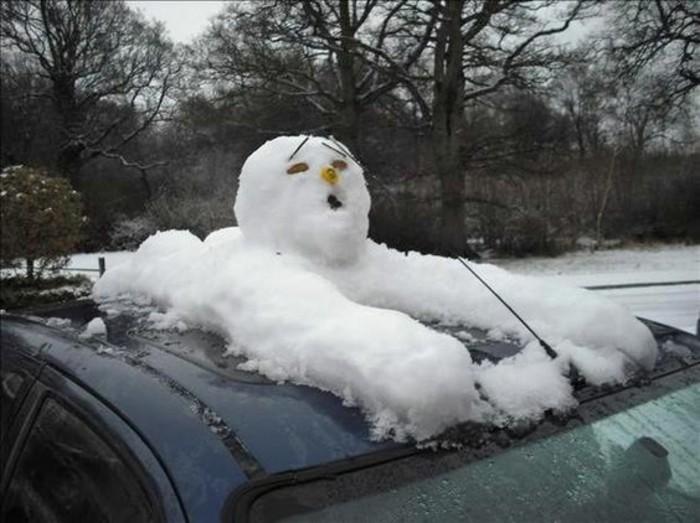 deco-noel-bonhomme-de-neige-comment-faire-un-bonhomme-voiture