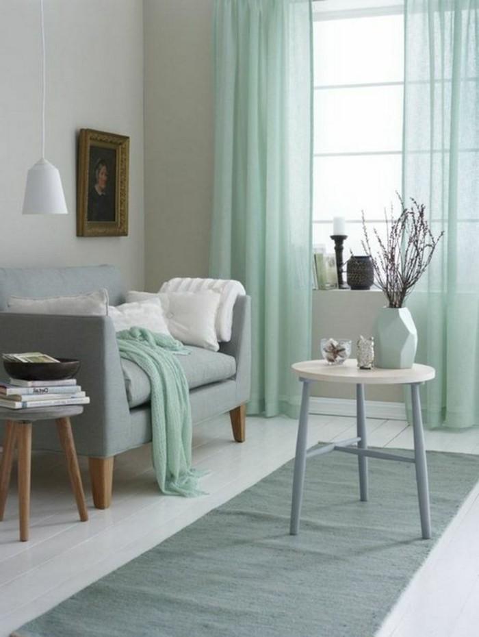 deco-salle-de-sejour-gris-et-bleu-vert-amenager-une-chambre-en-longueur-idee-deco