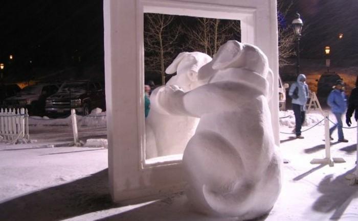 decoration-de-noel-bonhomme-de-neige-idees-art-chien