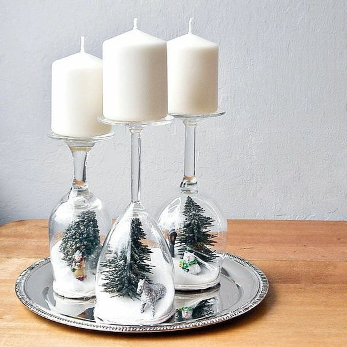 D corations de no l faire soi m me 60 photos d 39 id es diy - Decoration de noel pour table a faire soi meme ...