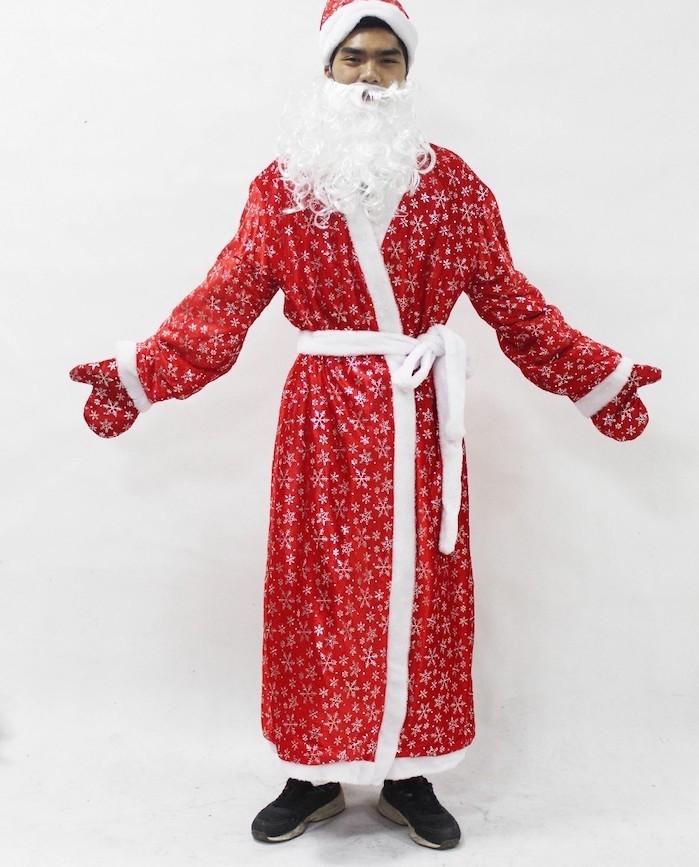 Costume p re no l le rouge et blanc sous toutes les for Chambre de noel