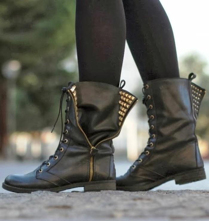 matériau sélectionné couleur n brillante site réputé Les bottines cloutées - la tendance chaussures qui a marqué ...