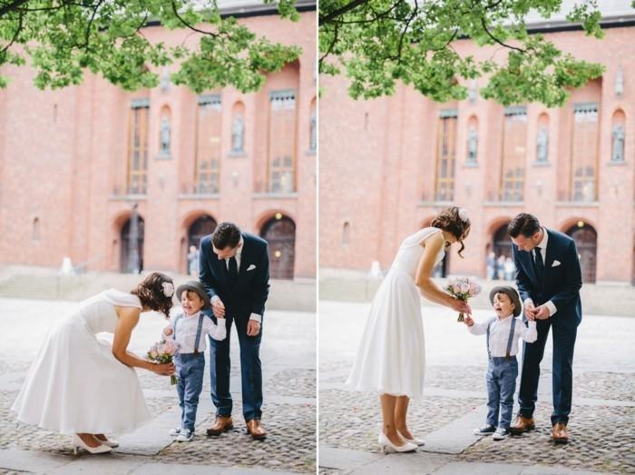 Magnifique robe de mariée courte et longue photo mariee