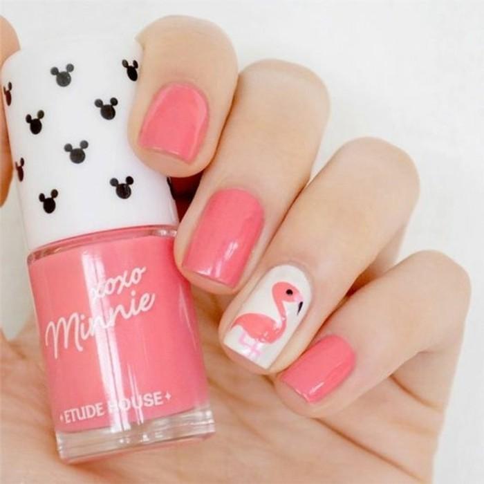 dessin-facile-a-faire-flamant-rose-manicure-en-blanc-et-rose