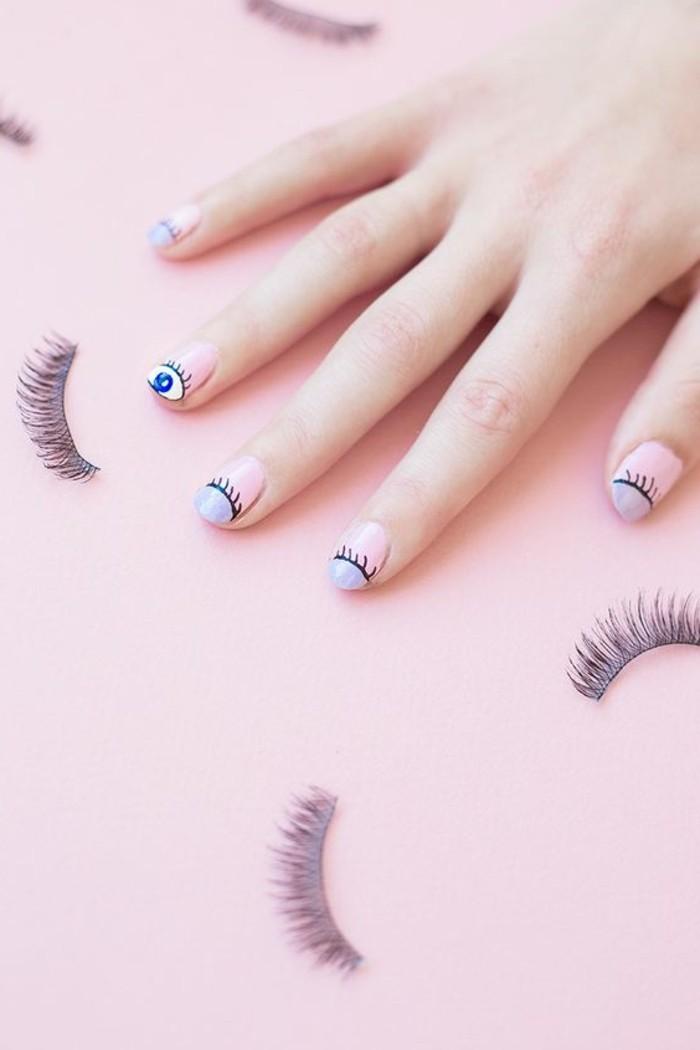 dessin-facile-a-faire-sourciles-yeux-ongles-rose-et-bleu