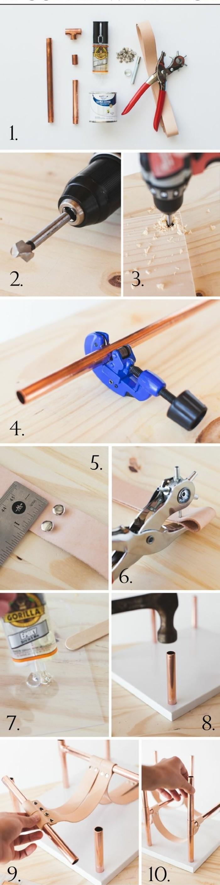 50 id es pour int grer le tube de cuivre dans votre d cor - Comment remettre une porte dans ses gonds ...