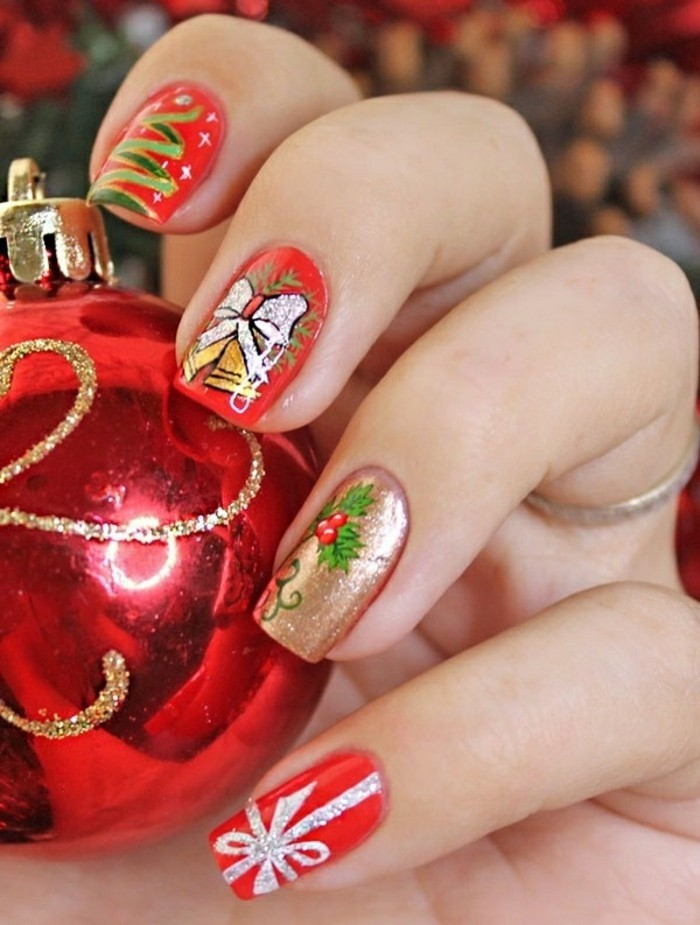 Ugly Christmas Sweater Nail Art Designs Amp Christmas Nail Ideas - Best Resume Collection
