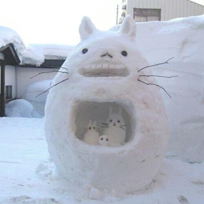 fabriquer-bonhomme-de-neige-vrai-bonhomme-de-neige-chat-cool