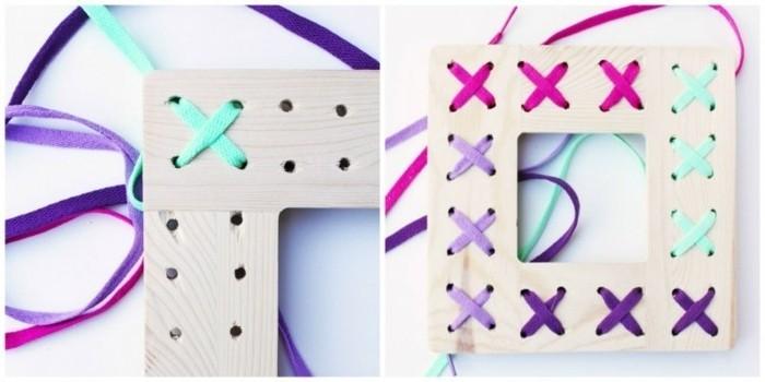 fabriquer-cadre-photo-soi-meme-ficelle-decorative-de-couleurs-differente-idee-diy-cadre