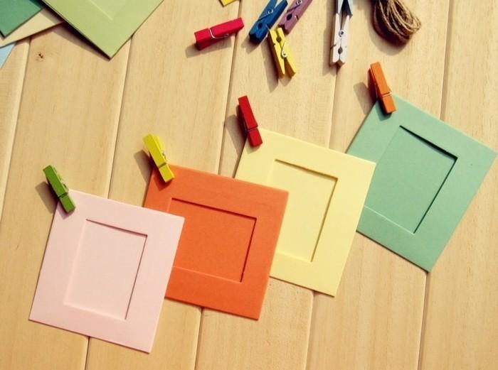 fabriquer-un-cadre-photo-a-partir-de-bouts-de-papier-de-couleurs-diverses-cadre-idee-simple-a-realiser