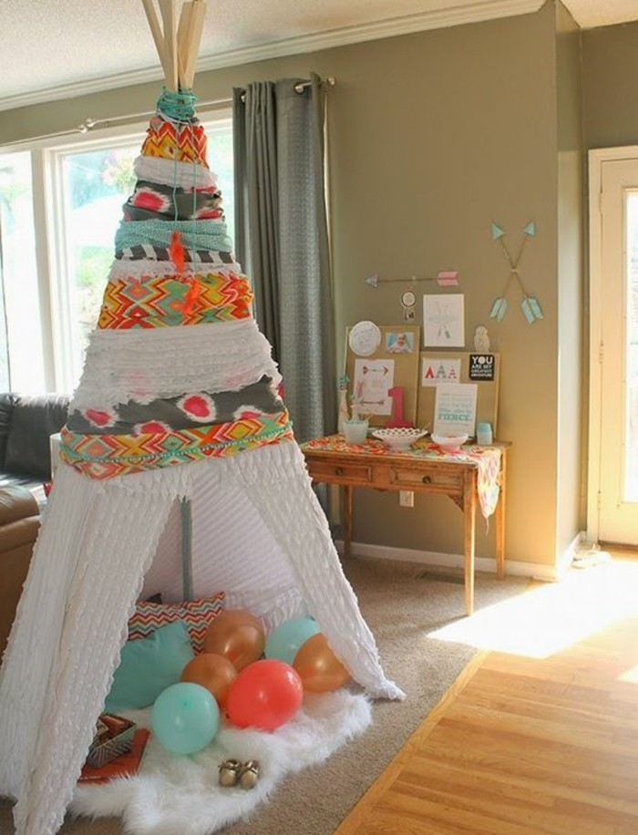 fabriquer un tipi pour enfant. Black Bedroom Furniture Sets. Home Design Ideas