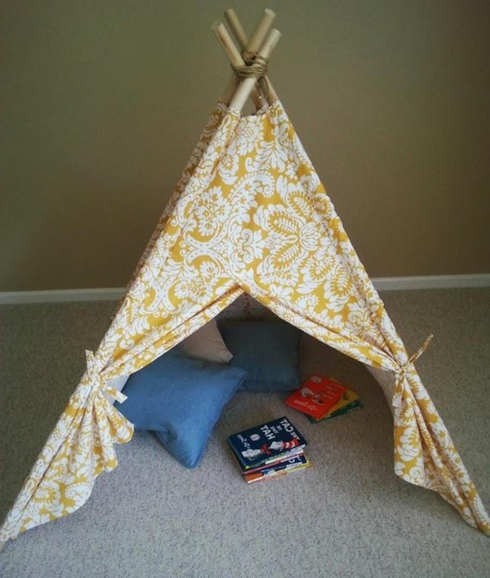 Comment fabriquer un tipi 60 id es pour une tente indienne sympa - Fabriquer un tipi pour enfant ...