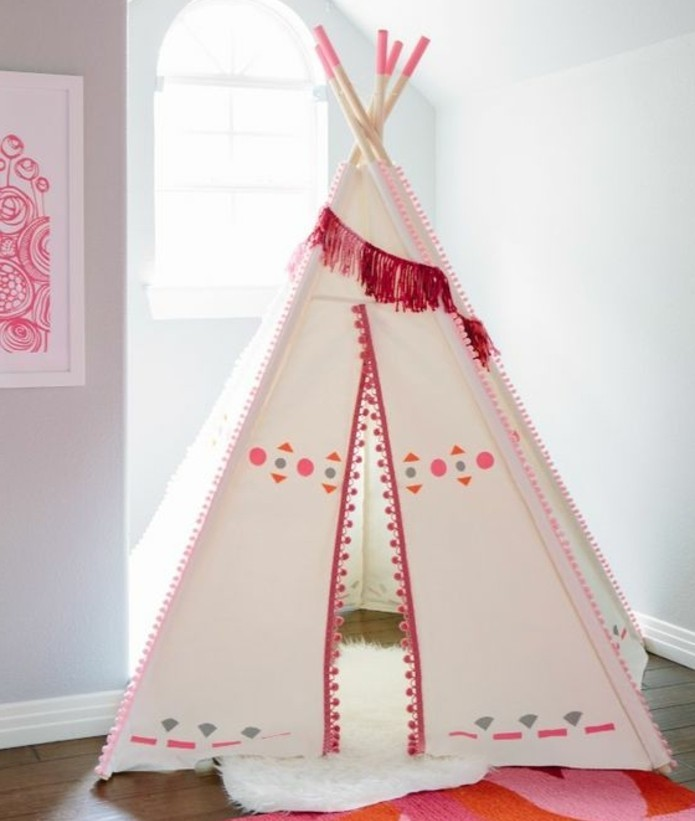 comment fabriquer un tipi 60 id es pour une tente indienne sympa. Black Bedroom Furniture Sets. Home Design Ideas