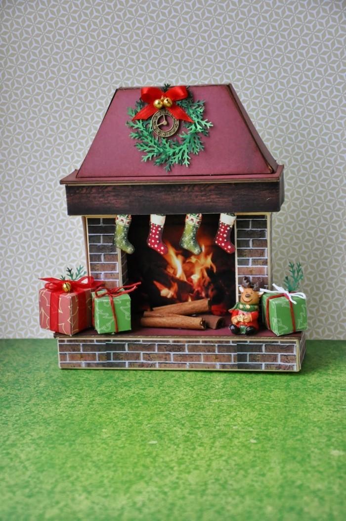 faire-une-cheminee-guirlande-de-noel-cadeaux-vert-rouge