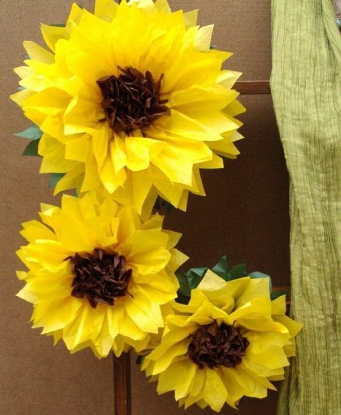 fabriquer une fleur en papier de soie 67 id es diy. Black Bedroom Furniture Sets. Home Design Ideas