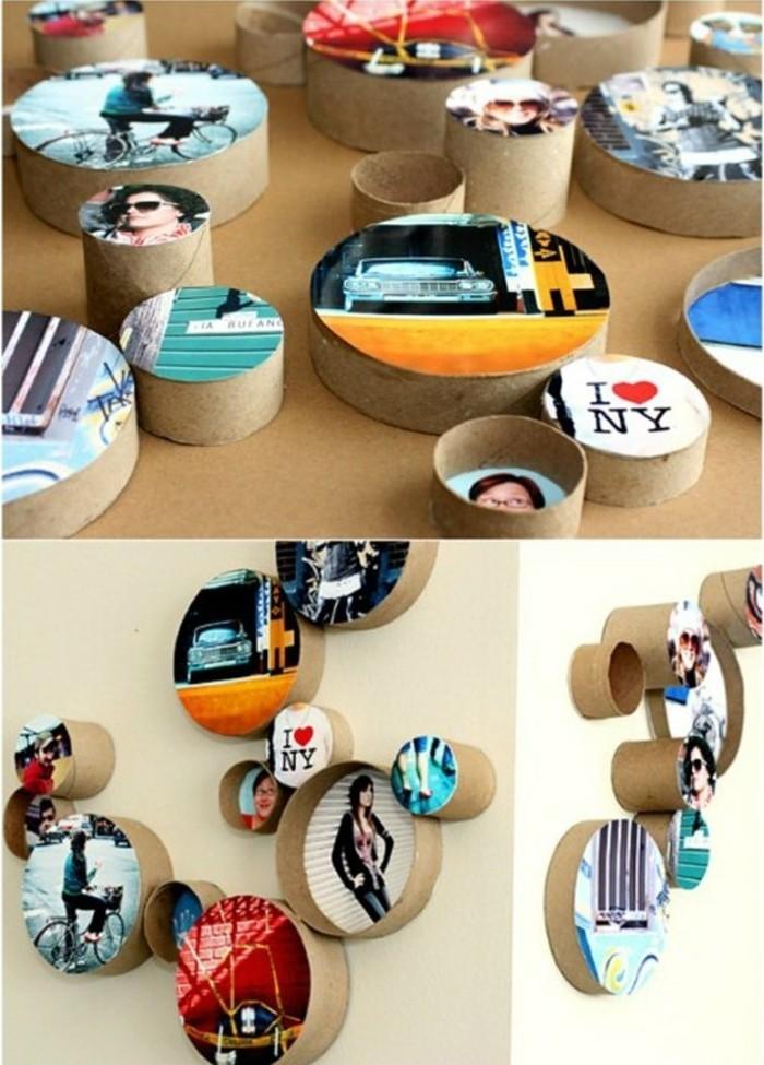 idee-cadre-photo-en-carton-en-forme-de-ronde-idee-pour-fabriquer-un-cadre-photo