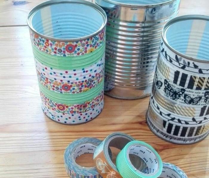 Que faire avec du masking tape 72 id es diy trop cr atives - Recycler boite de conserve ...