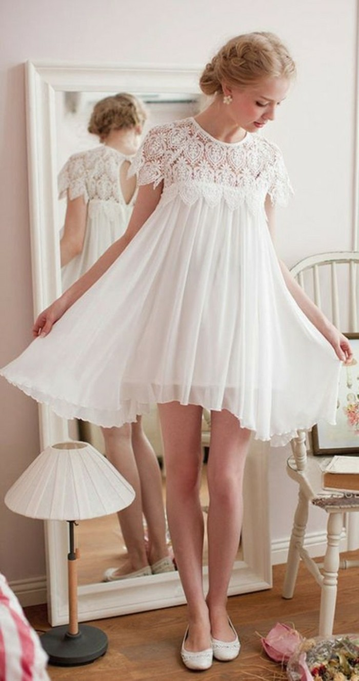 idee-robe-courte-de-mariage-robe-courte-de-mariee-voir-chaussures-plates