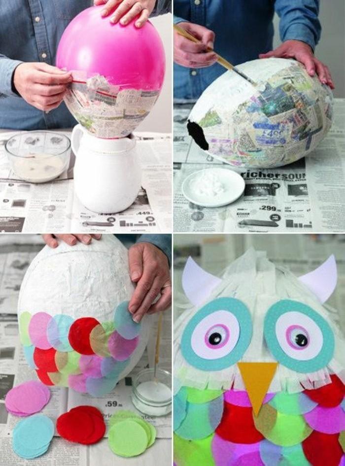 idee-de-pinata-fabrique-a-l-aide-de-papier-mache-et-colle-maison-et-ballon-idee-comment-faire-une-pinata