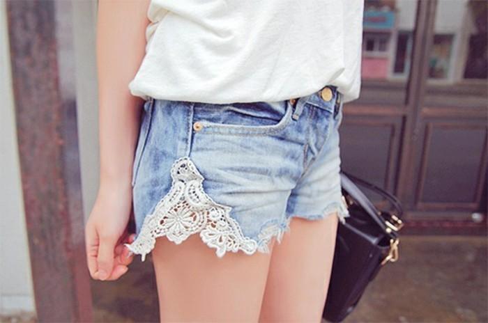 jean-dentelle-blanche-short-frais-ete-t-shirt-sac-a-main-noir-air-ado-jeune-fille