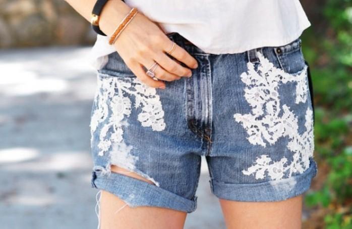jean-dentelle-shorts-personnalises-dentelle-blanche-facile-a-appliquer-creativite-style