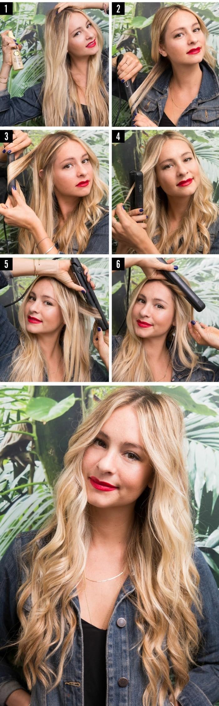 Diff rentes fa ons de boucler ses cheveux illustr es en 51 photos - Boucle avec fer a lisser ...