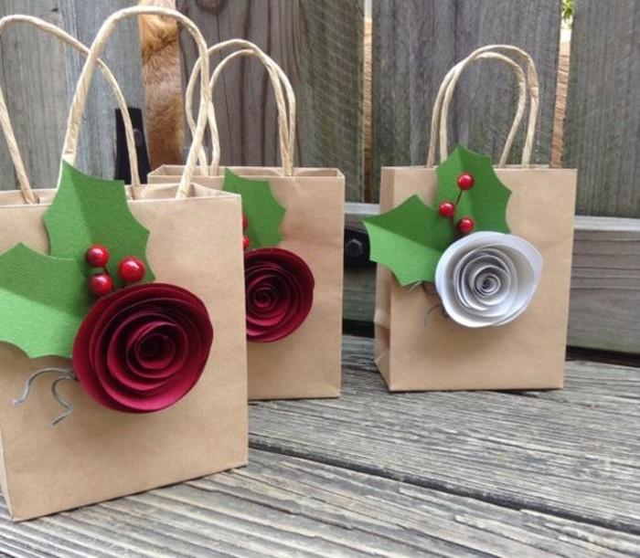 jolis-sacs-kraft-cadeaux-noel-decoration-fleur