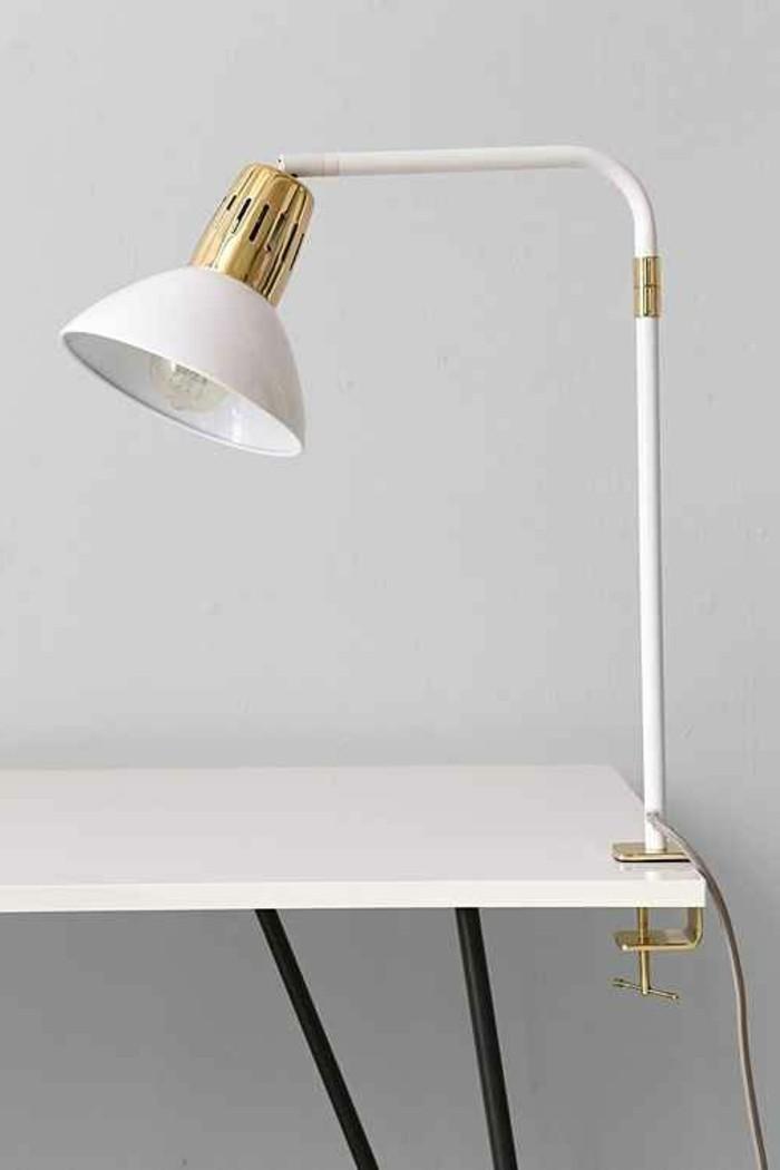 La lampe pince en 45 photos d couvrez l 39 clairage pratique - Lampe bureau blanche ...