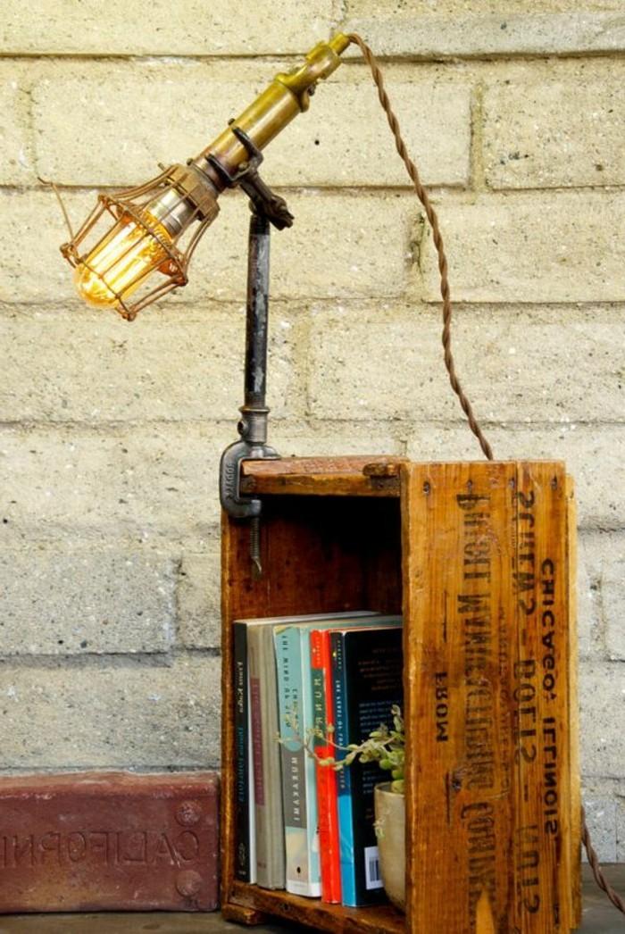 lampe-bureau-design-lampe-cage-avec-une-pince-et-caisson-de-bois