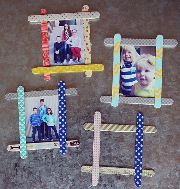 le-batonnet-de-glace-utilise-pour-fabriquer-un-cadre-photo-progonal-decorep-de-bandes-de-masking-tape