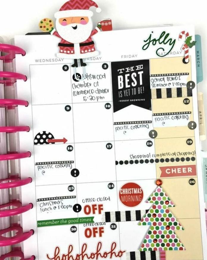 le-calendrier-de-la-semaine-de-noel-decore-de-motifs-festifs-customiser-son-agenda-idee-geniale