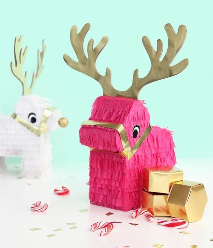 ... pour fabriquer une pinata enfant pour Noel, les rennes de père Noel