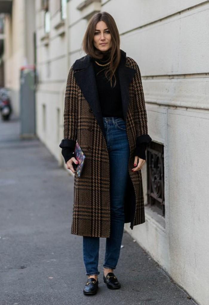 Manteau long femme vintage