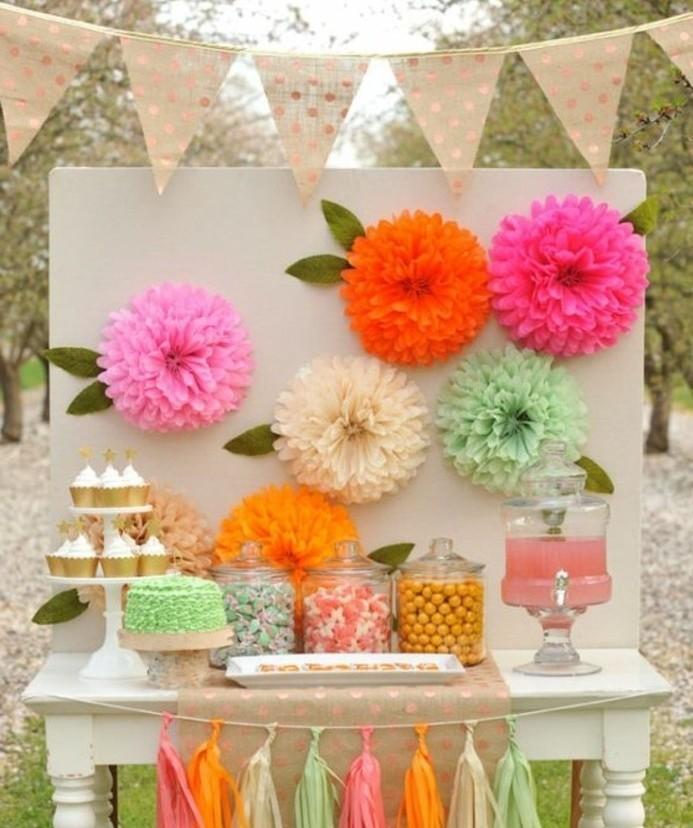 ... faire une belle séance photo. Décoration de fleurs en papier de soie