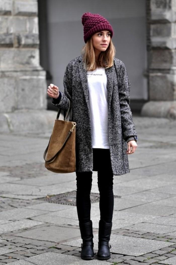 manteau-gris-chine-femme-porte-de-facon-decontractee